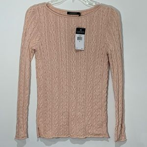 Ralph Lauren NWT Cable Knit sweater Pink S